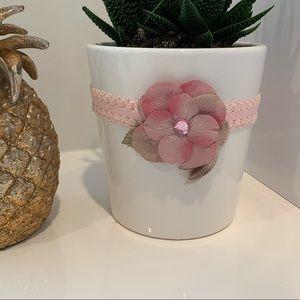 Other - Pink flower headband